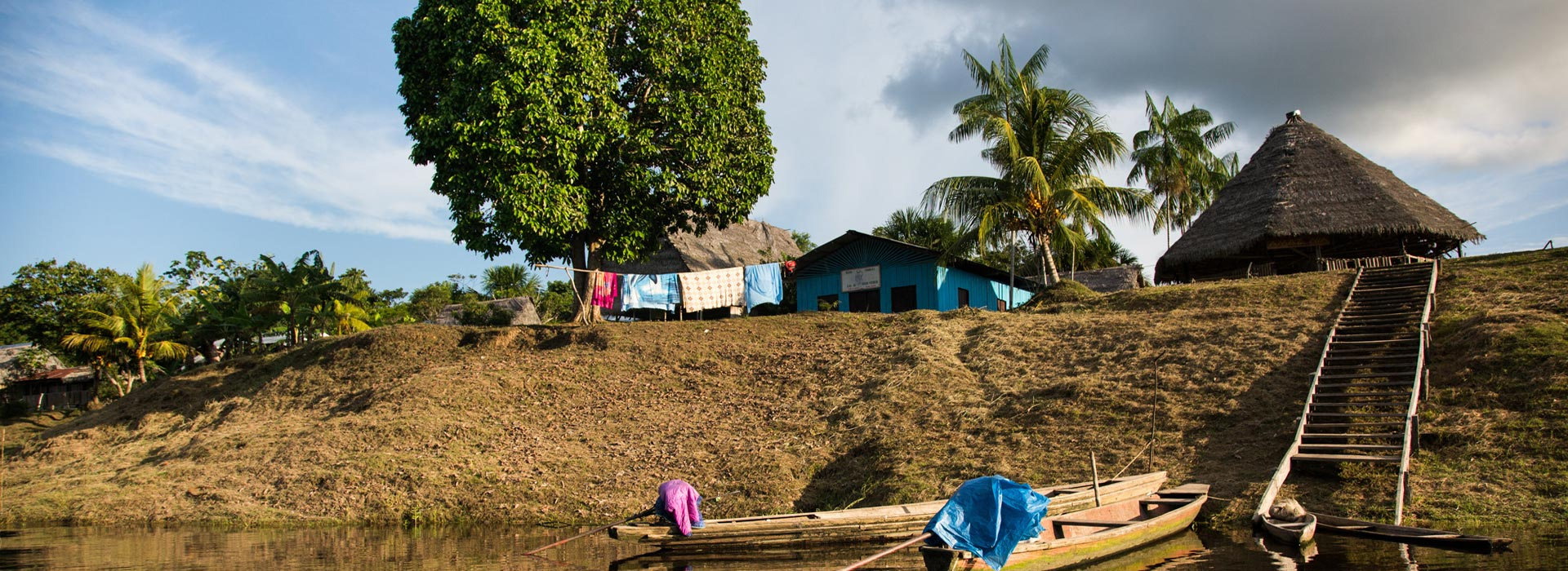A small village on the banks of the Amazon