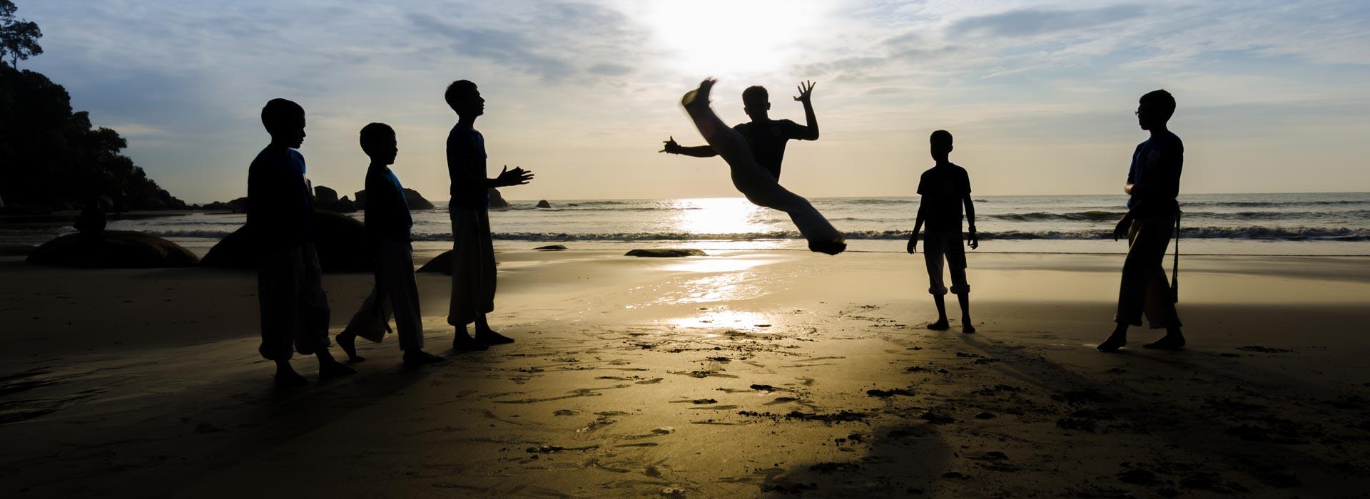 Capoeira Roda near the beach by Capoeirasta