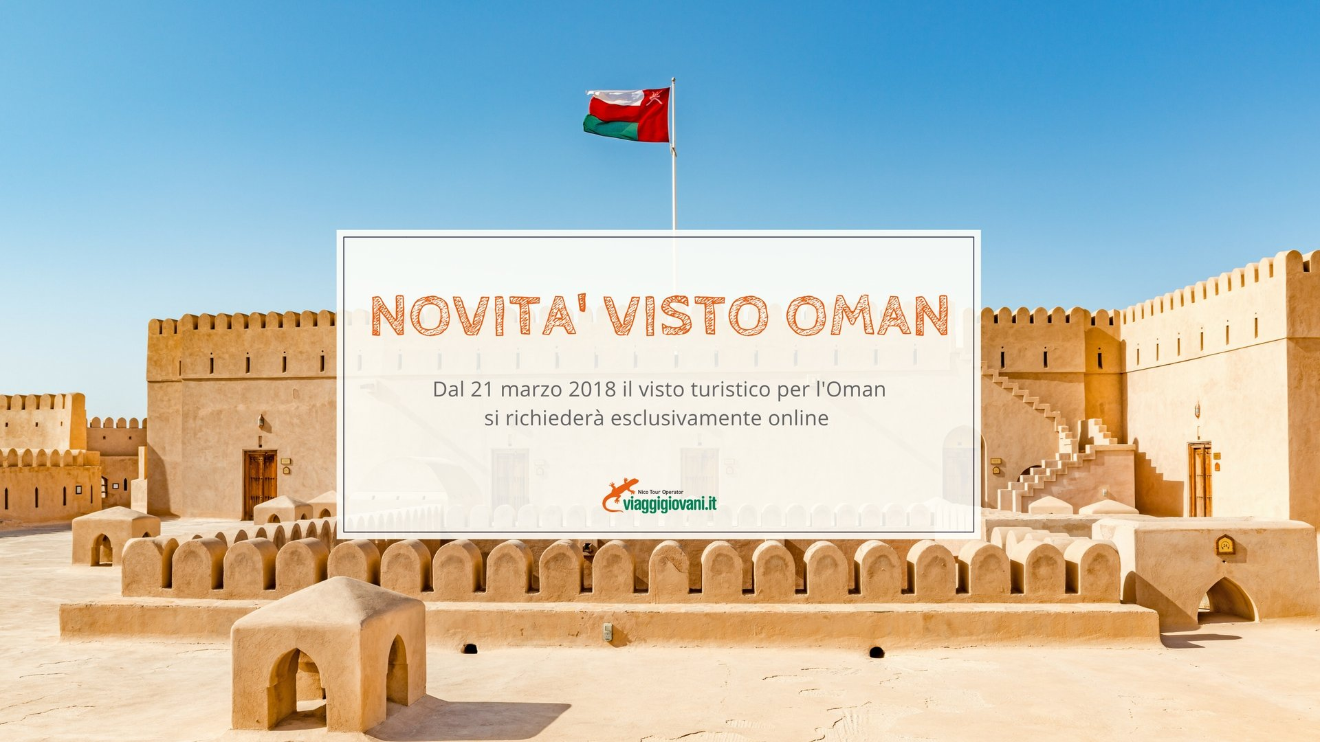 Visto Turistico Oman, nuove procedure